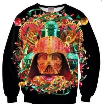 star wars trippy crewneck printed sweater