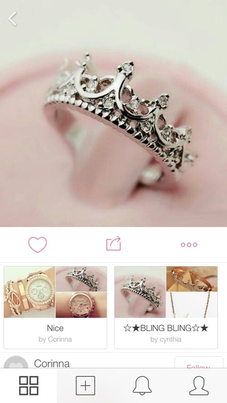 jewels ring crown ring silver