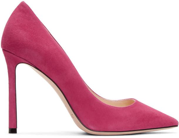 heels suede pink shoes