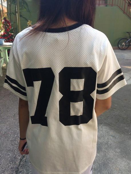 Shirt cute 78 jersey alexander wang black and white for Baseball jersey shirt dress