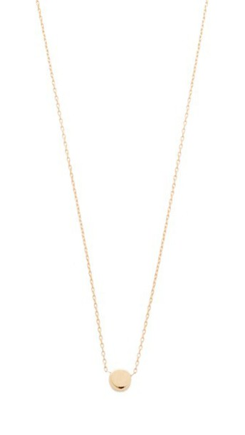 Adina Reyter Super Tiny Disc Necklace in gold
