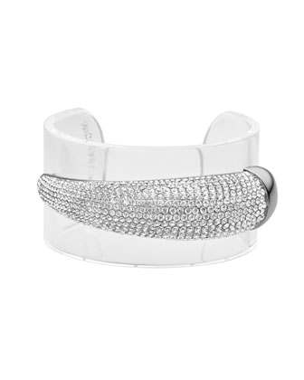 Michael Kors Pave Horn Cuff, Clear - Michael Kors
