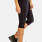 Black stylish three quarter yoga leggings - alanic