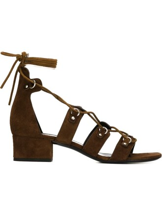 strappy sandals lace brown shoes