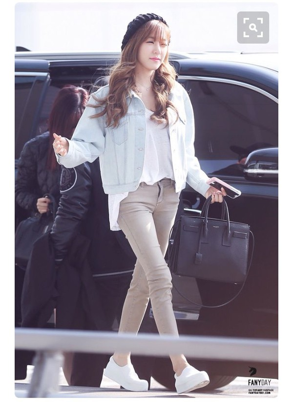 Jacket Tiffany Hwang Snsd Streetstyle Celebrity Denim