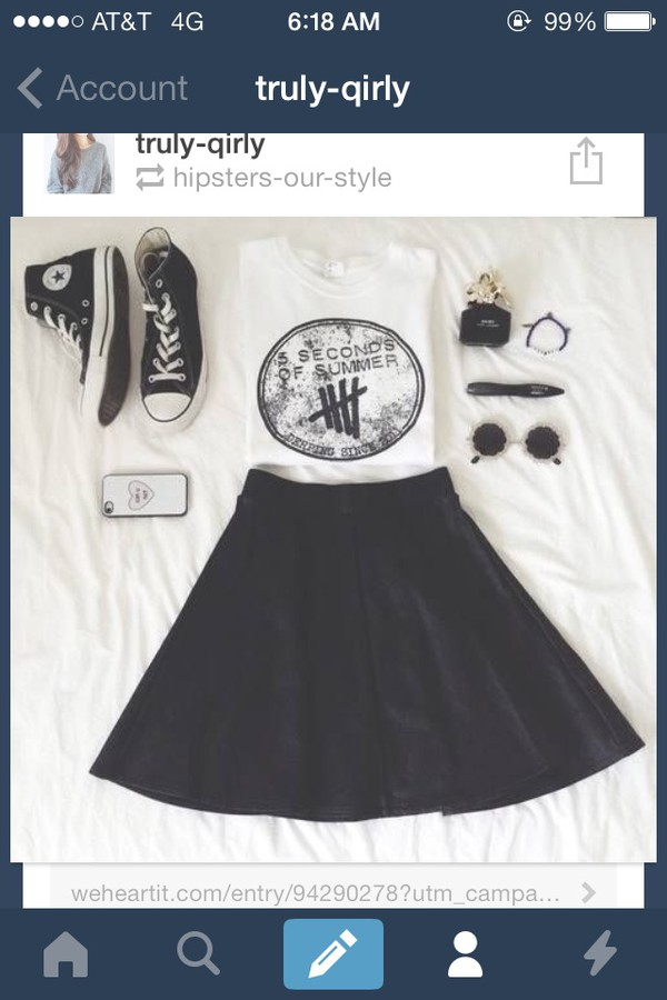 shirt 5 seconds of summer muscle tee hipster skater skirt skirt cute