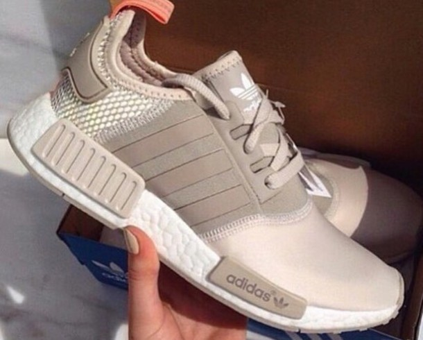 adidas nmd r1 w shoes sand white