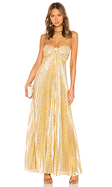 Alexis Joya Dress in Gold Lame from Revolve.com