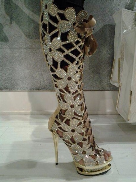 3c61e382e0d shoes jewls high heels knee high boots gorgeous sparkle glitter flowers