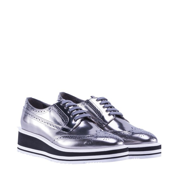 Prada silver shoes