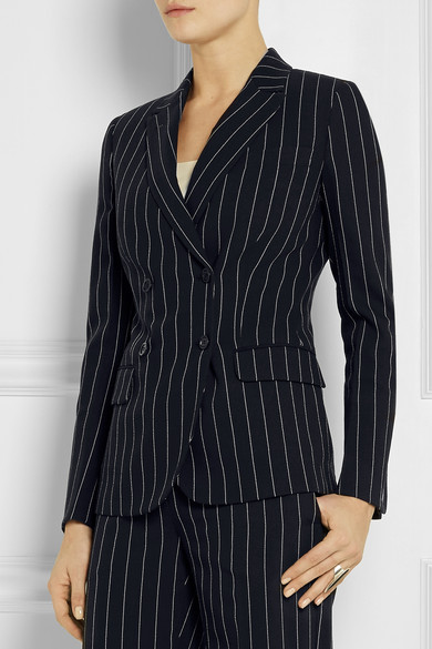 Pinstriped wool