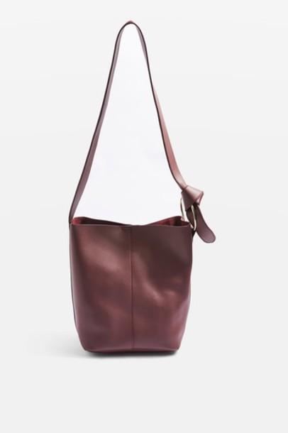 metal bag shoulder bag burgundy