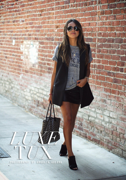 bag sincerely jules dress t-shirt jacket skirt sunglasses jewels