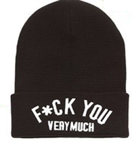 'F UCK You Very Much' Unisex Hot Sell Hip Hop U Street Beanie Hat Cap Free SHIP | eBay