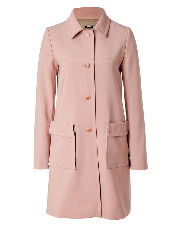 Blush Wool Coat from JIL SANDER NAVY | Luxury fashion online | STYLEBOP.com
