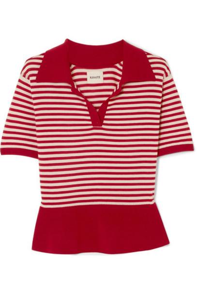 KHAITE sweater wool red