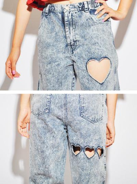 jeans heart shaped jeans