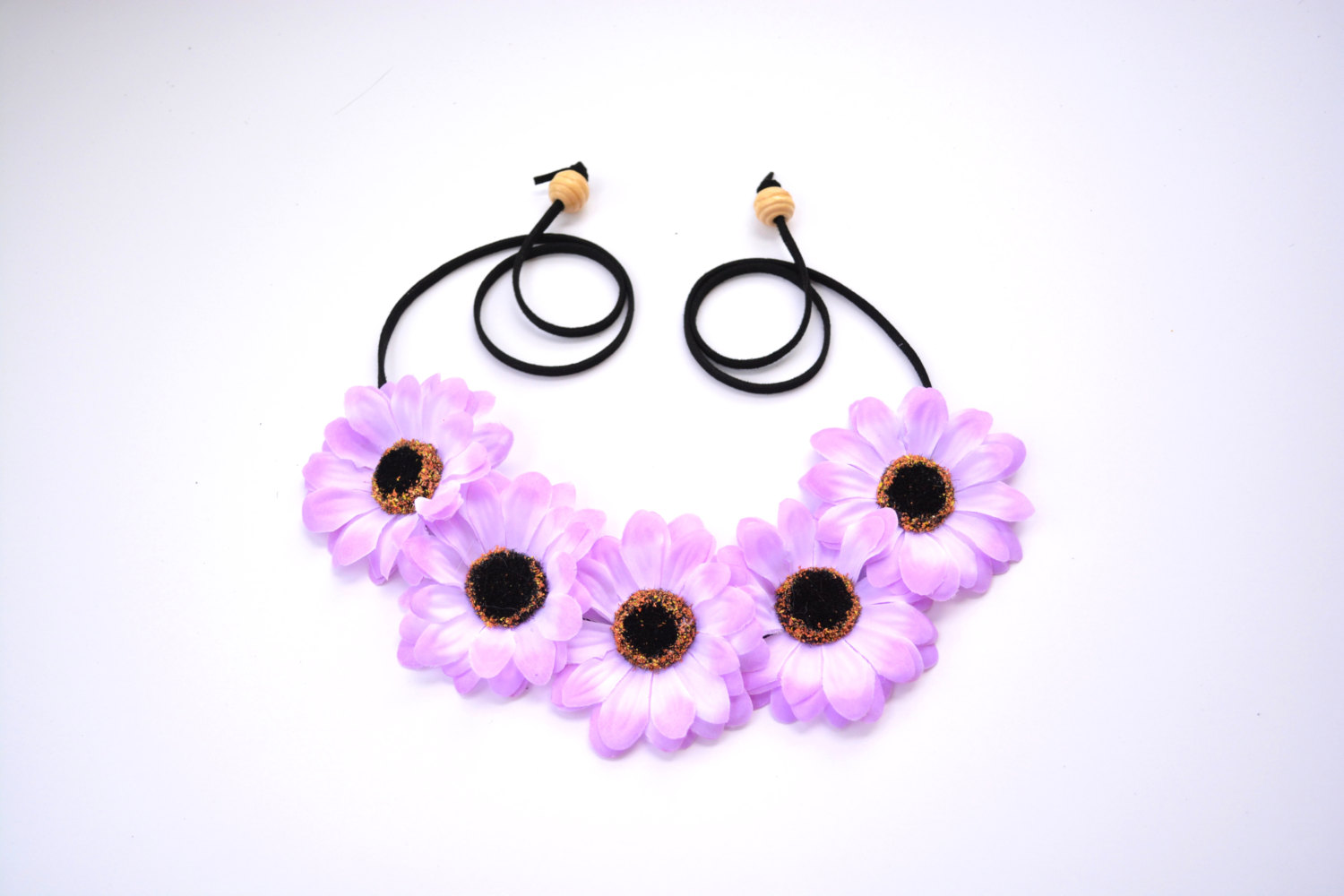 Purple Flower Crown Floral Halo Purple Flower Headband Festival