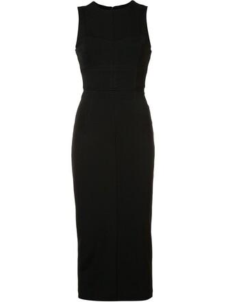dress midi dress women midi spandex black