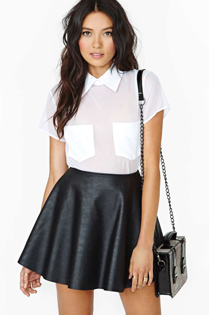 Reformation For Nasty Gal Donna Blouse in  Clothes Tops Shirts   Blouses at Nasty Gal