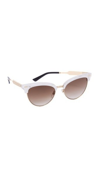 fc07b2dba36 Gucci Damascato Cat Eye Sunglasses - Mother Of Pearl Brown - Wheretoget
