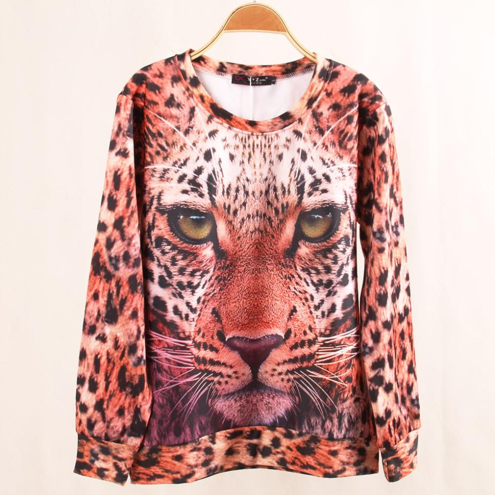 New 2013 Animal Sweatshirt Sport Hoodies Clothing Women Winter 3D Printing Leopard Lion Tiger Balm Fleece Sweatshirts Large Size-in Hoodies & Sweatshirts from Apparel & Accessories on Aliexpress.com