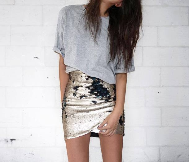 Skirt: tumblr, wrap skirt, metallic skirt, mini skirt, metallic, t ...