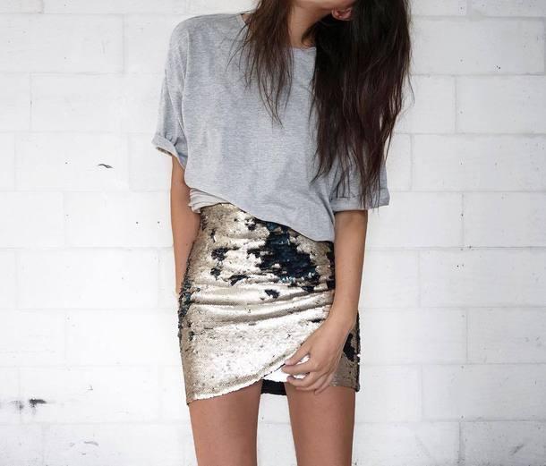 skirt, tumblr, wrap skirt, metallic skirt, mini skirt ...  Mini