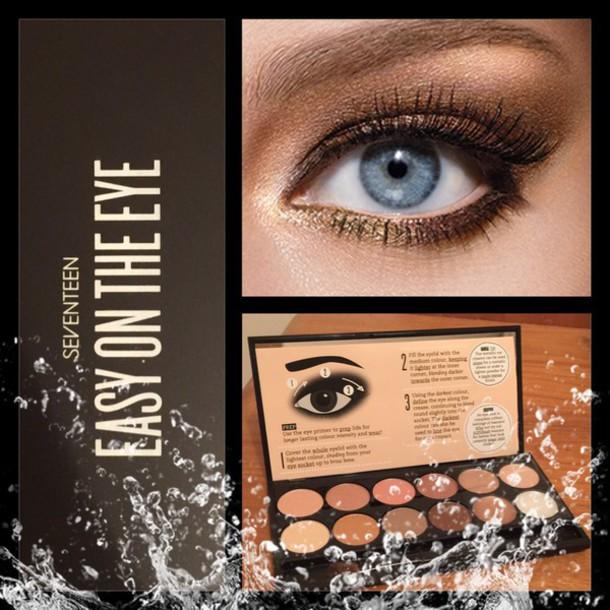 Make Up Easy On The Eye Seventeen Makeup Palette Eye Shadow