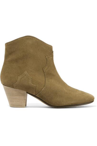 Isabel Marant suede ankle boots ankle boots suede brown shoes