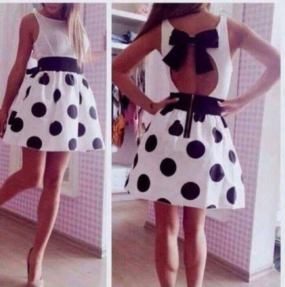 dress dots cute