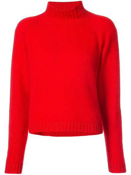 jumper cropped jumper cropped women red sweater