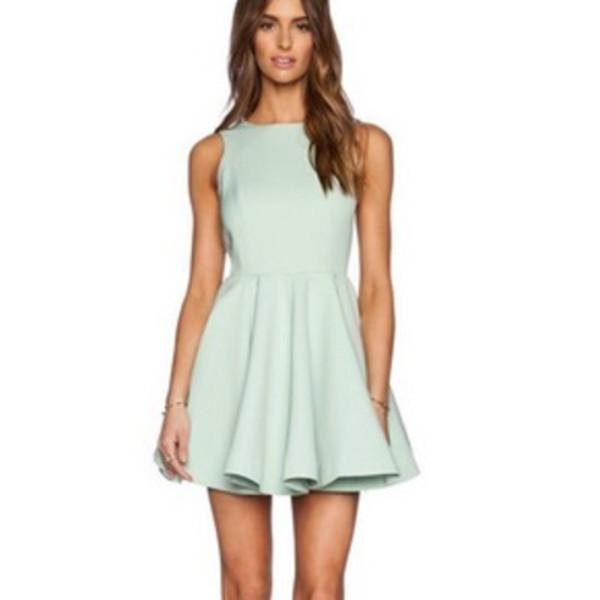 Dress: fashion, mini dress, skater dress, pleated, pleated dress ...