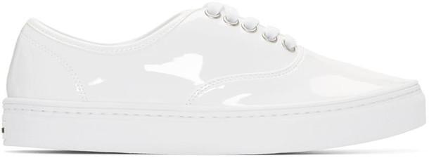 Junya Watanabe White Patent Leather Sneakers