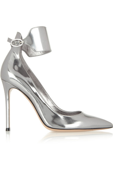 Gianvito Rossi | Metallic leather pumps | NET-A-PORTER.COM