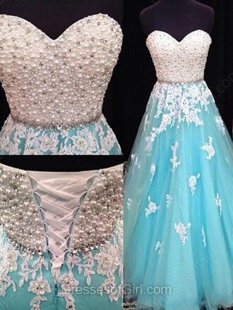 dress prom prom dress white blue gown homecoming dress fashion style trendy elegant dressofgirl
