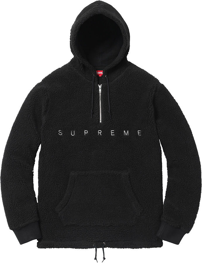 sherpa fleece pullover hoodie black medium M brand new with tags