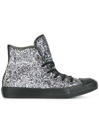 glitter women sneakers cotton grey metallic shoes