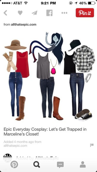 black tank top grey tank top jeans brown boots black and white plaid t-shirt straw hat red tank top black hat converse shoes