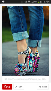 shoes,wedges,aztec,steve madden
