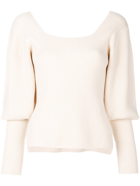 KHAITE jumper women nude sweater