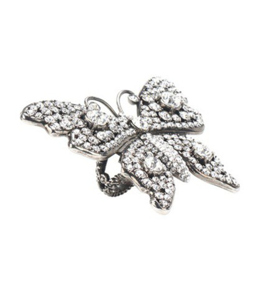 butterfly ring silver jewels