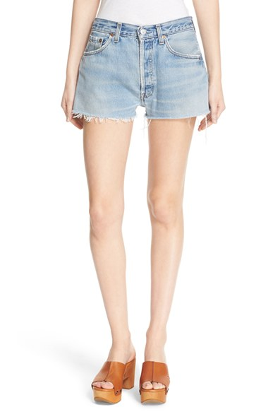 Re/Done 'The Short' Reconstructed Denim Shorts | Nordstrom