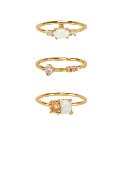 gorjana Hudson Ring Set in gold / metallic