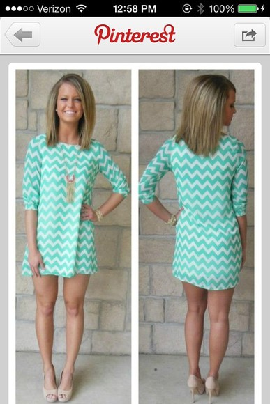 mint dress chevron mint chevron