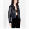 & other stories | rodarte cropped leather jacket | black