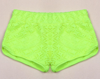 Candy Color Crochet Lace Sexy Shorts