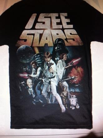 t-shirt i see stars band t-shirt star wars