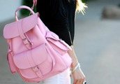 bag,style,fashion,trendy,backpack,purse,canvas backpack,canvas,pink,rucksack,back to school,bookbag