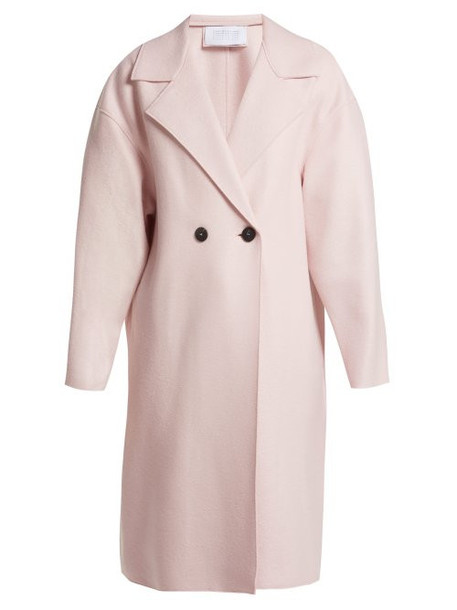 Harris Wharf London - Dropped Shoulder Pressed Wool Coat - Womens - Light Pink
